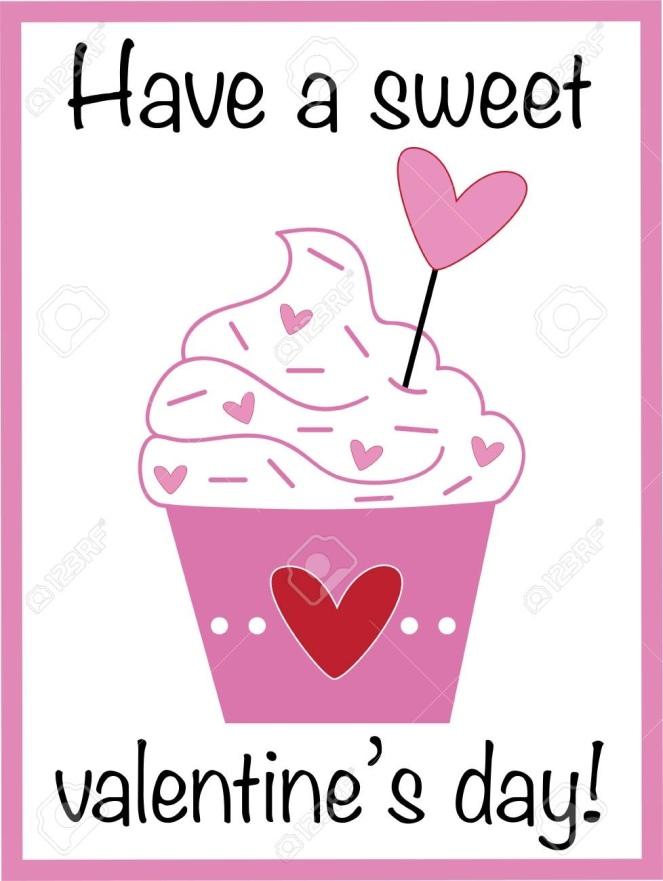 Happy Valentines Day Cupcake